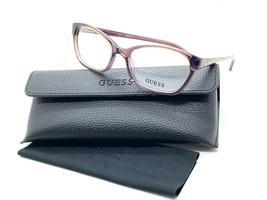 Guess eyeglasses GU2466 BRN Acetate Brown - Transparent Purple  52MM - $31.98