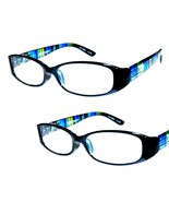 2 Pair +1.00 Foster Grant Blue Rainbow Reading Glasses w Soft Case MSRP:$32 - $7.75