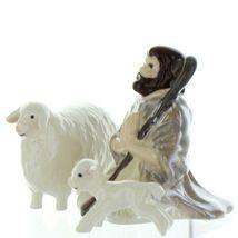 Hagen Renaker Specialty Nativity Shepherd Lamb & Sheep Ceramic Figurine Set image 4