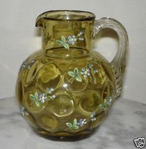 Phoenix Art Glass Amber creamer pitcher - $116.88