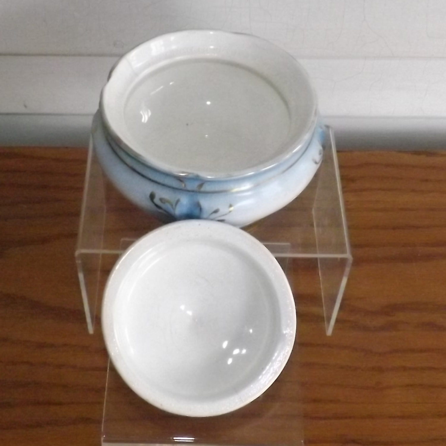 Bathroom Set 3 pieces Shades of Blue and Gold Unbranded