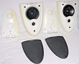 """Pioneer S-DS1-H Direct Diffuse Stereo Surround 4-1/2"""" Speakers Pair W/Brackets - $49.31"""