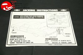 64 Impala Convertible Jack Instructions Decal GM#3854003 - $15.75