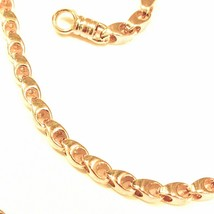 SOLID 18K YELLOW GOLD CHAIN, 20 INCHES, 3 MM DROP TUBE LINK, POLISHED NECKLACE image 2