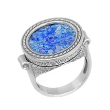 925 Silver Ancient Roman Glass ring - $250.00