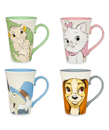 Disney Store Character Coffee Mug 2017 Simba Marie Pinocchio Lady Jiminy... - $59.95
