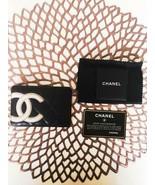 CHANEL Ladies Line Card Holder Card Case Black - $135.29