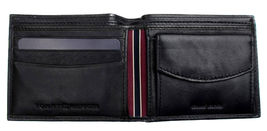 Tommy Hilfiger Men's Premium Leather Id Credit Card Coin Wallet Black 31Tl25X020 image 7
