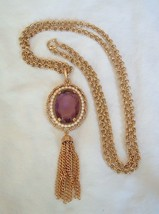 Avon 1972 Purple Pendant Necklace - $19.99