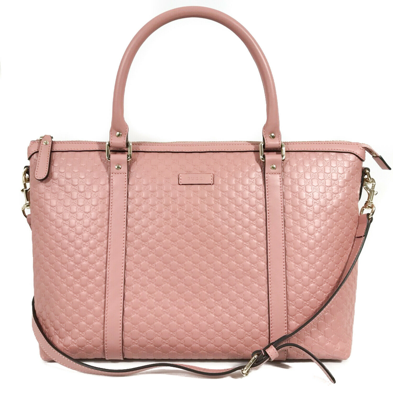 NEW/AUTHENTIC GUCCI Microguccissima Leather Zip Top Crossbody Handbag