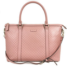 NEW/AUTHENTIC GUCCI Microguccissima Leather Zip Top Crossbody Handbag - $1,409.00
