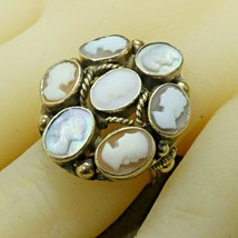 Vintage 14k Yellow Gold Cameo Ring Size 6.5 - $395.01
