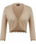 KANCY KOLE Women's 3/4 Sleeve Shrug Cardigan Knit Open Front Cropped Bol... - $22.82+
