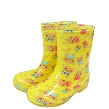 Cute Starry Kids' Rain Boots Yellow Rabbit Children Rainy Days Shoes 20CM