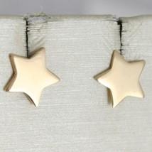 Earrings Gold Yellow or White 750 18k, Stella, Flat Stars, Length 0.9 cm image 2