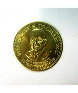 US President Harry S Truman Commemorative Goldtone Metal Presidential Co... - $9.50
