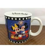 1988 Walt Disney Mickey Minnie Romantic Coffee Mug The Fireworks Never E... - $20.09