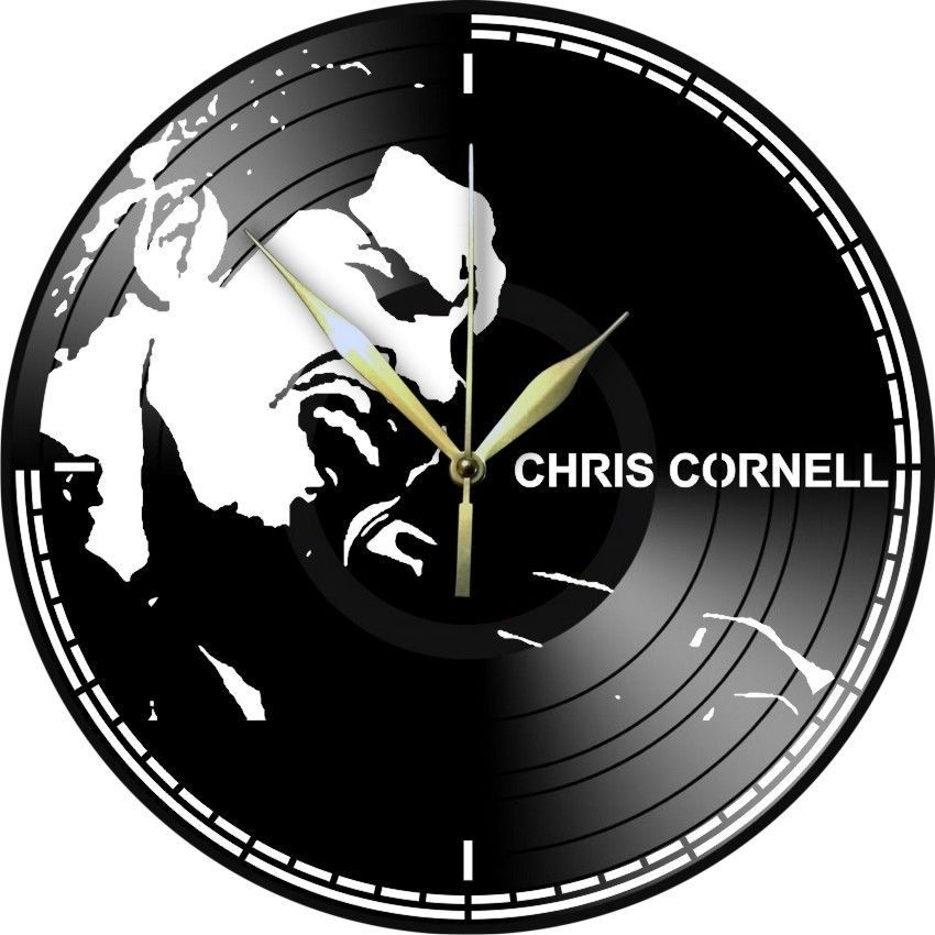 VINYL PLANET Wall Clock CHRIS CORNELL Gift Home Unique Decor upcycled 12''