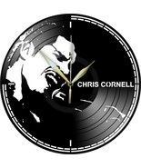 VINYL PLANET Wall Clock CHRIS CORNELL Gift Home Unique Decor upcycled 12'' - £22.57 GBP