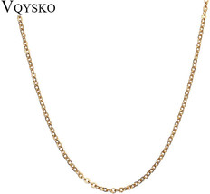 Wholesale 1.5mm O Link Chain for Men/Women Stainless Steel Rose Gold Silver Gold - $69.79+