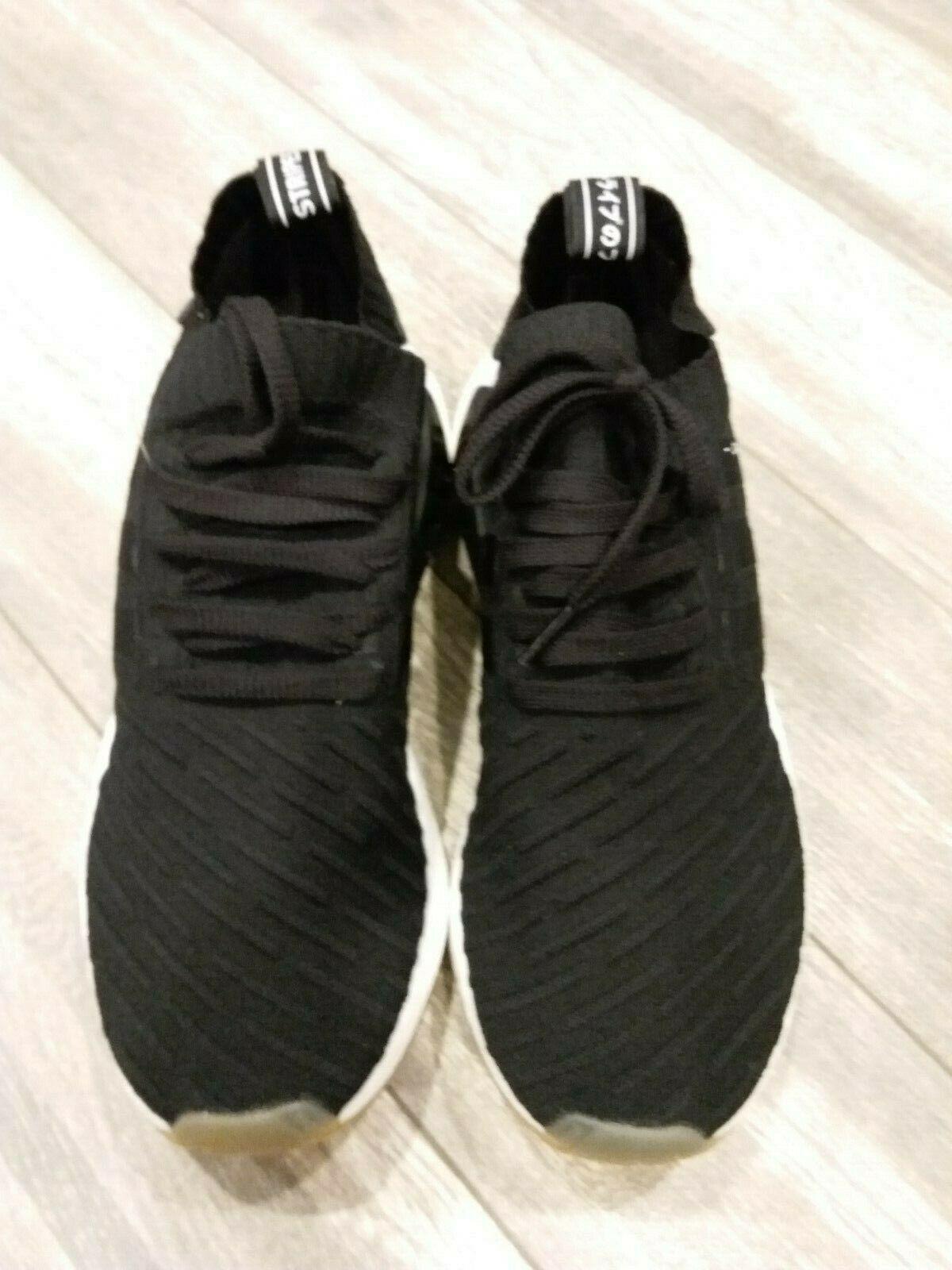 f13b66130 New Adidas NMD R2 Primeknit Japan Black Gym Running Shoes (BY9696) Size 10