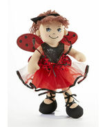 "Adorable Apple Dumplin' Cloth 14"" Doll by Delton - Lady Bug Doll - €24,46 EUR"