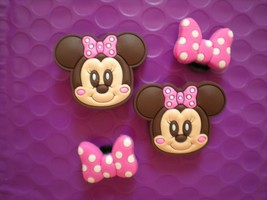 s Shoe Charm Plug Button Accessorie Clog Hole WristBand Minnie Mouse - $7.99