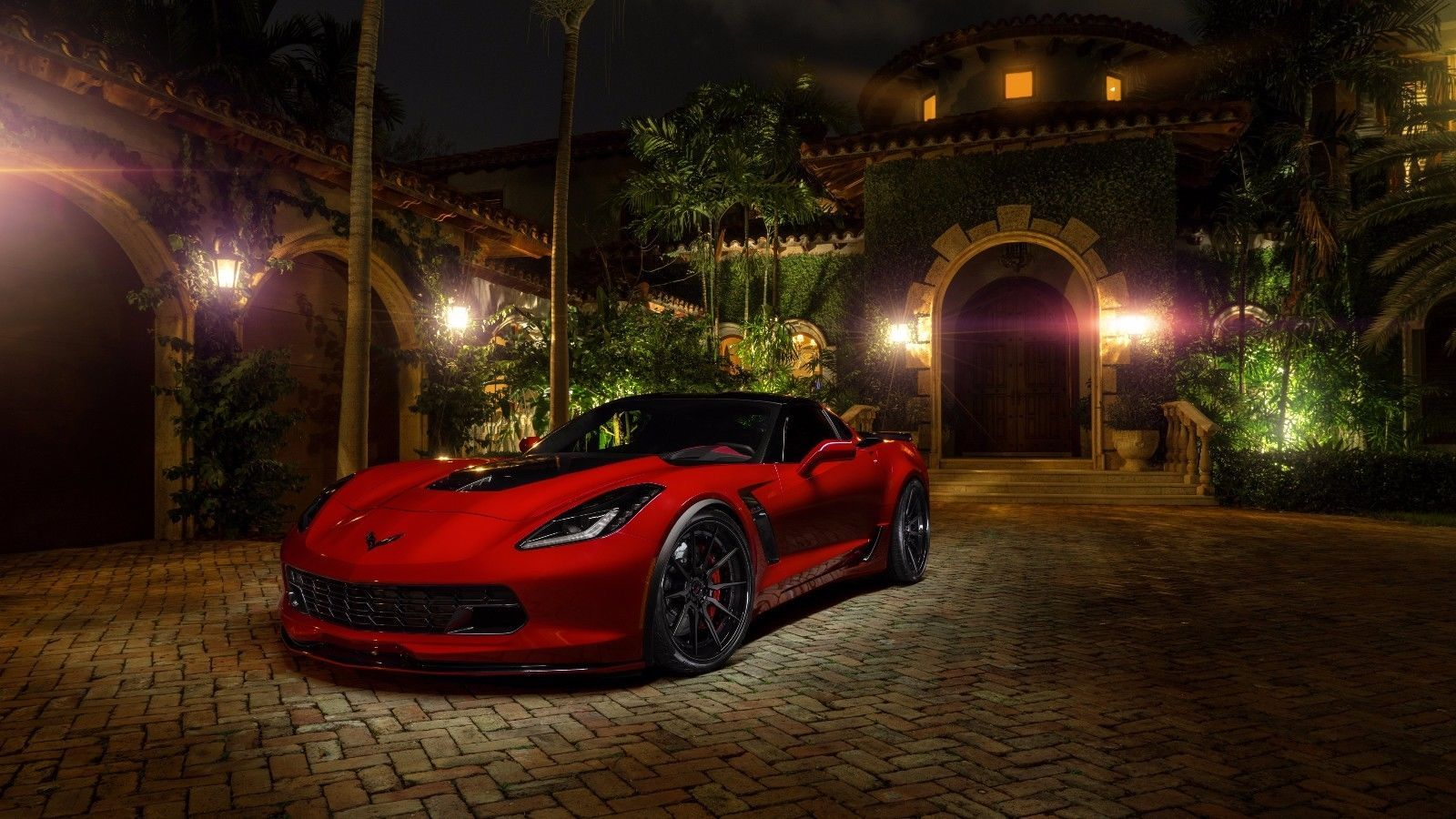 Primary image for 2017 Chevrolet Corvette c7 z06 red 24X36 inch poster, sports car