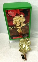 1982 Brass Bells Stocking Hanger Rare!   Hallmark Christmas MIB - $29.21