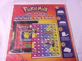 Pokedex Pokeball BOOK COVERS 1999 NINTENDO 2 Pokemon Pikachu Anime Orig ... - $29.65
