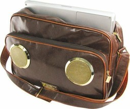 Fi-Hi Master G Speaker Messenger Bag w/ Laptop Compartment Chocolate Brown