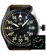 Orient Pilot RA-AC0H02N 42.4mm Orient Aviator Automatic men's watch nyl... - $185.00
