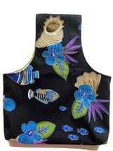 Yarn Bag Organizer Project Bag Tote Knitting Crochet FISHES Drapery FABR... - $12.99
