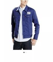 Men's Levi's Royal New York Giants Twill Trucker Button Up Jacket Sz. M - $50.31