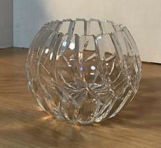 Elegant contemporary crystal glass Rose bowl vase - $24.95