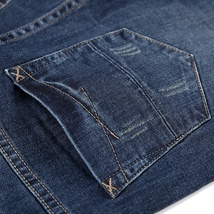 Men's Jeans - Autumn And Winter - Slim Straight image 3