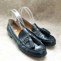 Coach Womens Haydee  Sz 9 B Black  Leather Slip On Loafer Tasseled - $39.99