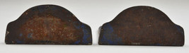 "Antique Cast Iron Book Ends Painted Ship Motif Circa 1900 6.125"" T Colle... - $74.99"