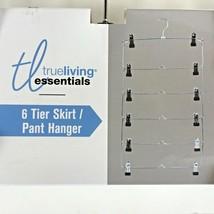 6-Tier Pants Hanger by TrueLiving Essentials Space Saving Adjustable Cl... - $14.49