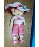 "Vintage Jumbo Strawberry Shortcake Plush Stuffed Rag Doll Large 29"" Tall  - $17.77"