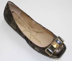 Women's Shoes Jessica Simpson MONETAH Slip On Ballet Flats Gold Lizard Metallic - $44.99