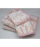 Oasis 100% Cotton Bath Set 4pcs, Color: Blush - $44.99