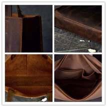 On Sale, Handmade Tote Bag, Horse Leather Shoulder Bag, Leather Shopping Bag image 6