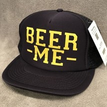 Beer Me Trucker Hat Party Alcohol Fun Foam Adjustable SnapBack Otto Cap ... - $11.87