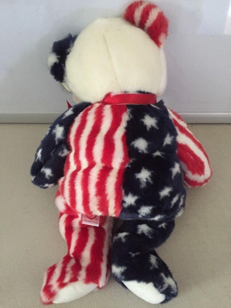 TY Spangle Teddy Bear Beanie Buddy 1999 Stuffed plush image 5