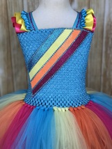 Jojo Tutu, Jojo Siwa Tutu Dress, Jojo Siwa Costume, Ribbon Trim Tutu Dress - $65.00+