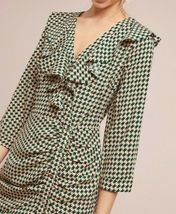 Anthropologie Ruffled Geometric Dress by Skies Are Blue - NWT image 3