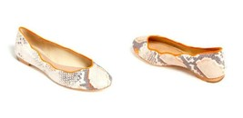 JUICY COUTURE JAILYN  SNAKE PRINT LEATHER FLATS 7 US $228 - $89.09