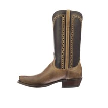 Handmade Men's Brown Wood & Black Leather Cowboy Mexican Western Taxes Boots - €425,87 EUR