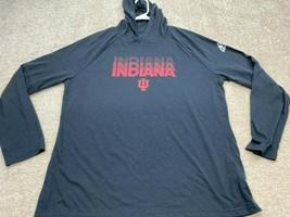 Indiana Hoosiers NCAA Adidas Long Sleeve Sweatshirt Men's Size Large Gray - $28.59